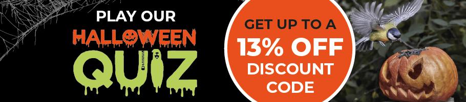 Halloween Quiz + Up to 13% off!